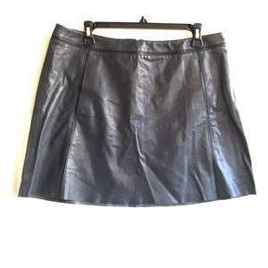 Vince 100% Genuine Leather Skirt 10